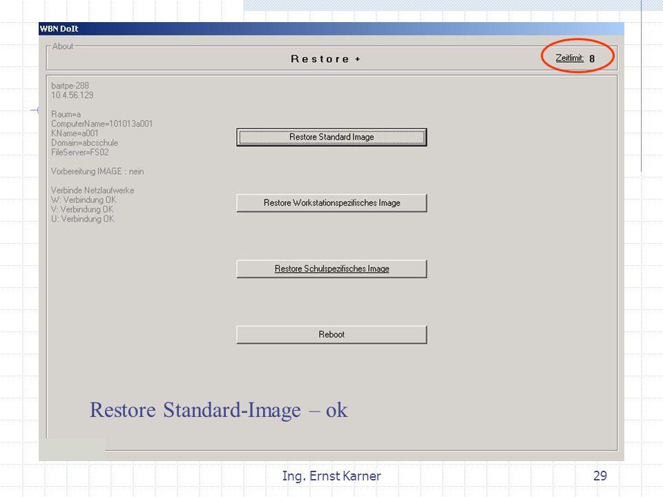Ing. Ernst Karner29 Restore ok Standard WS Sch Restore Standard-Image – ok