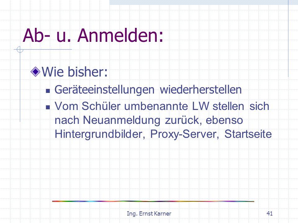 Ing. Ernst Karner41 Ab- u.
