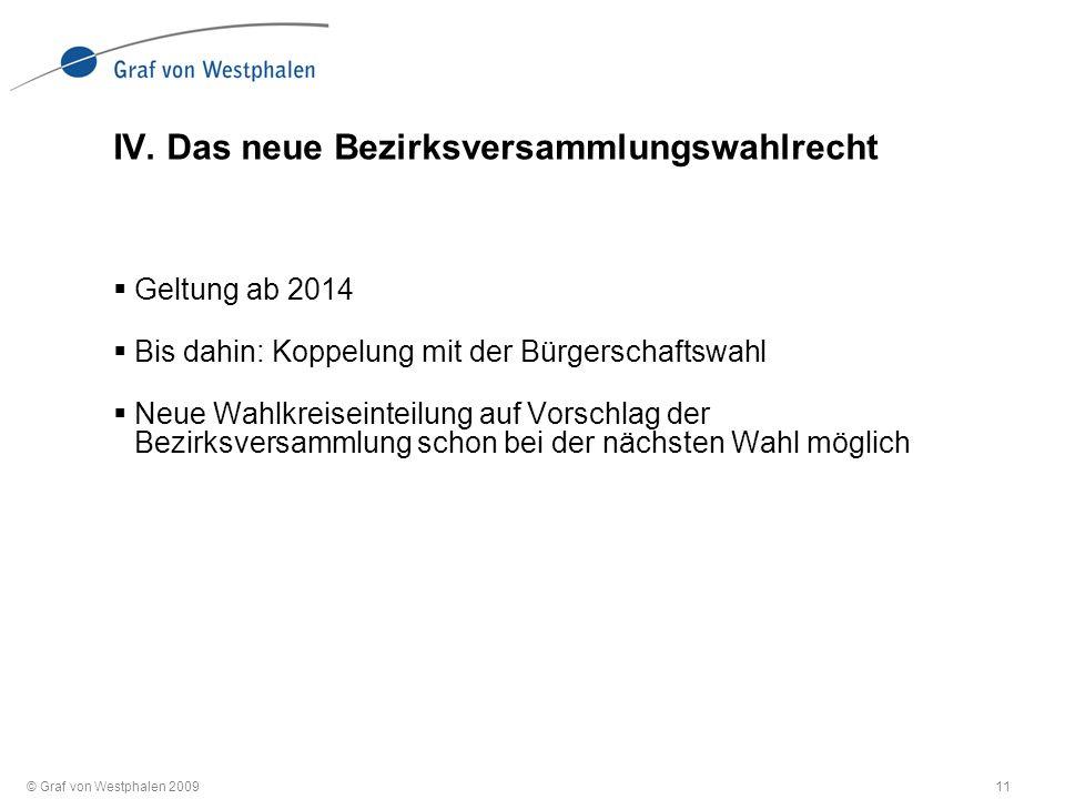 © Graf von Westphalen 200911 IV.