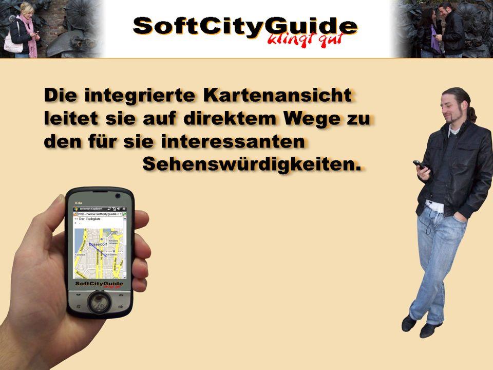 Dort angekommen erklärt der SoftCityGuide ihnen mit Texten oder Audiofiles das gesehene und gibt ihnen auch weiterführende Informationen über die Hintergründe wie den geschichtlichen Kontext.
