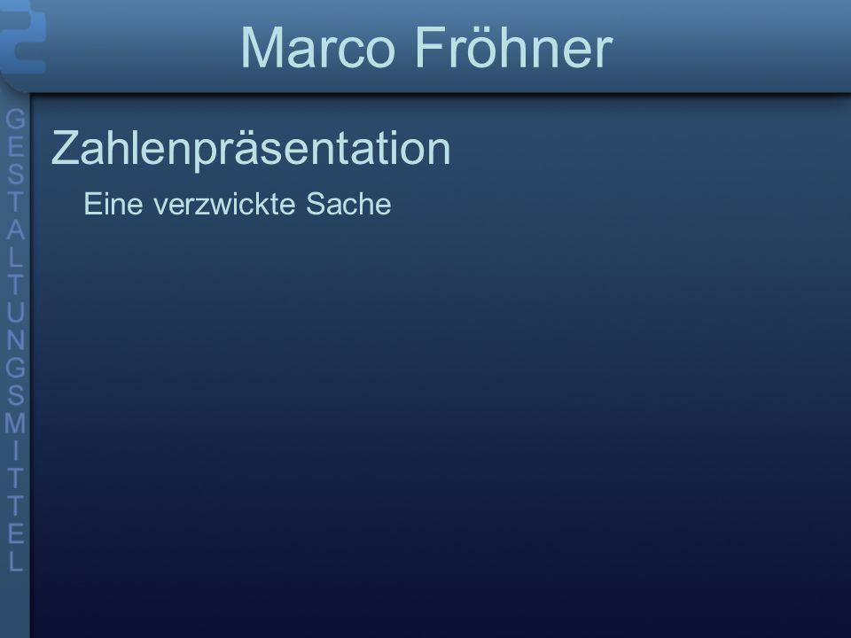 Marco Fröhner Zahlenpräsentation Eine verzwickte Sache