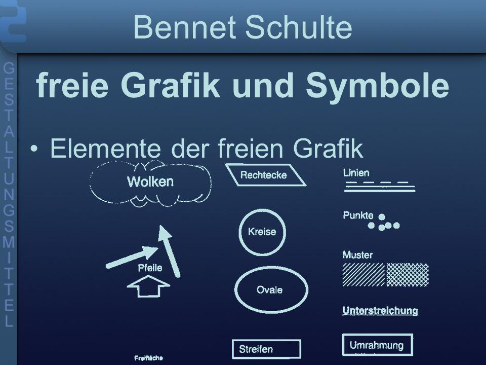 Bennet Schulte freie Grafik und Symbole Elemente der freien Grafik