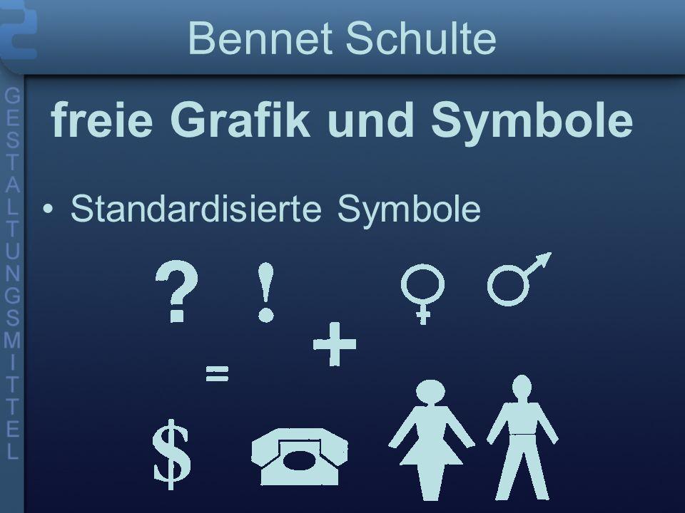 Bennet Schulte freie Grafik und Symbole Nichtstandardisierte Symbole