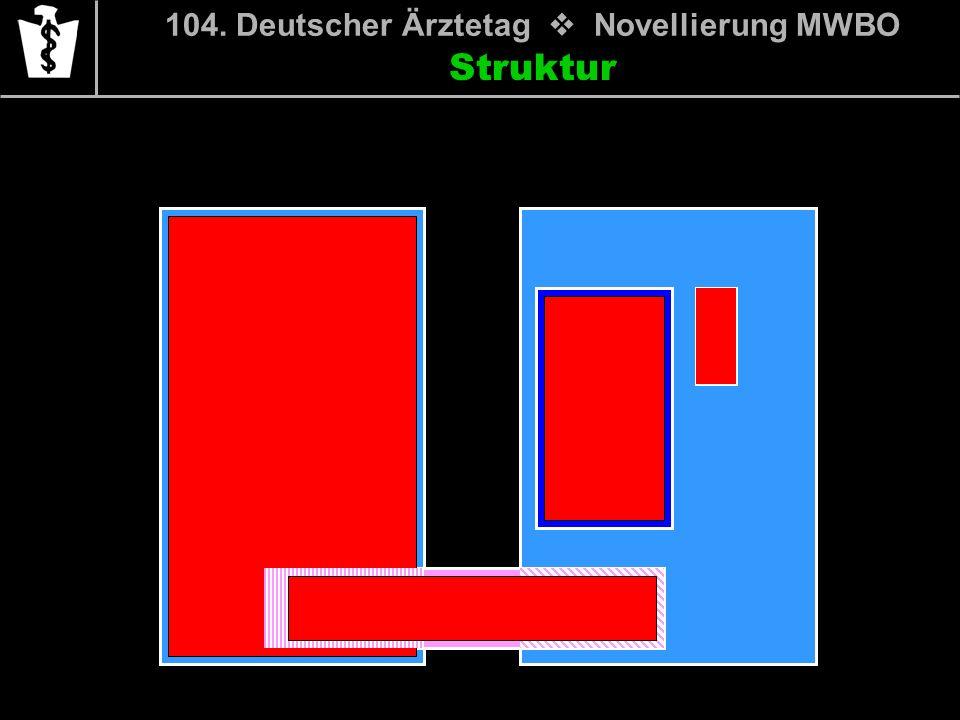 104. Deutscher Ärztetag Novellierung MWBO Struktur