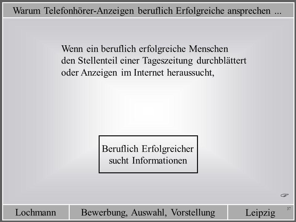 Leipzig Bewerbung, Auswahl, VorstellungLochmann 37 Warum Telefonhörer-Anzeigen beruflich Erfolgreiche ansprechen... Wenn ein beruflich erfolgreiche Me
