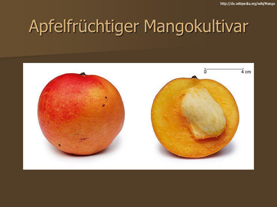 Apfelfrüchtiger Mangokultivar http://de.wikipedia.org/wiki/Mango