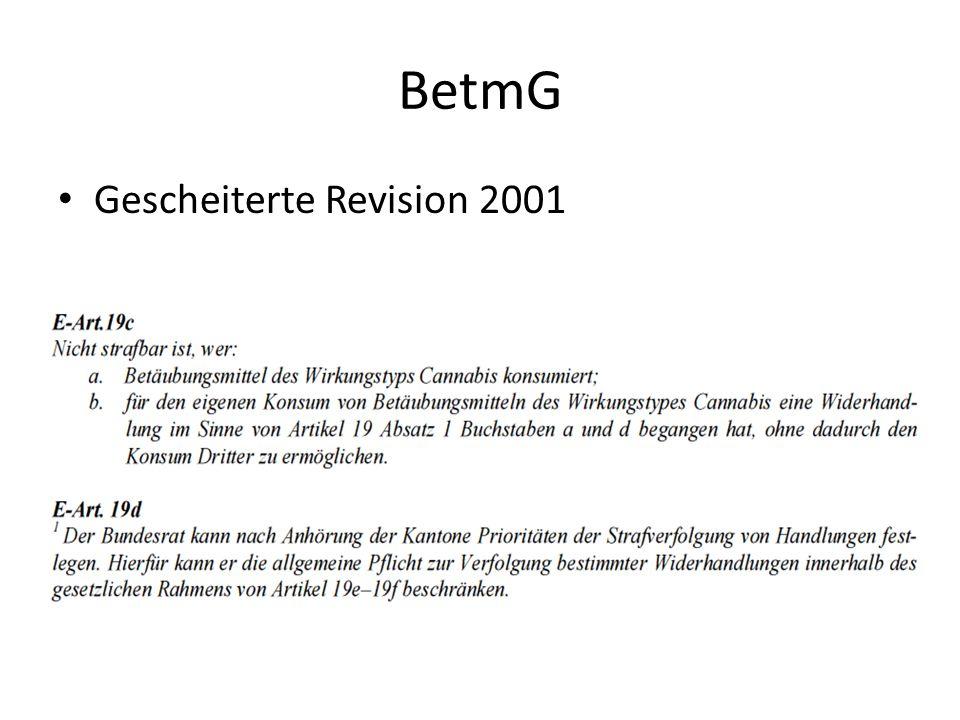 BetmG Gescheiterte Revision 2001