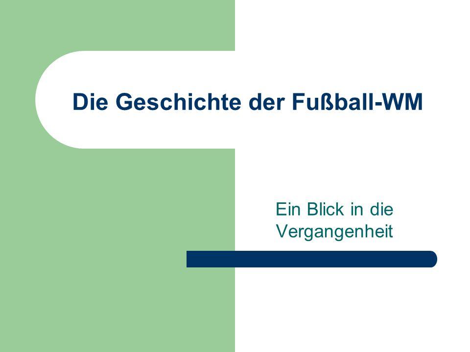 Die Geschichte der Fußball-WM Ein Blick in die Vergangenheit