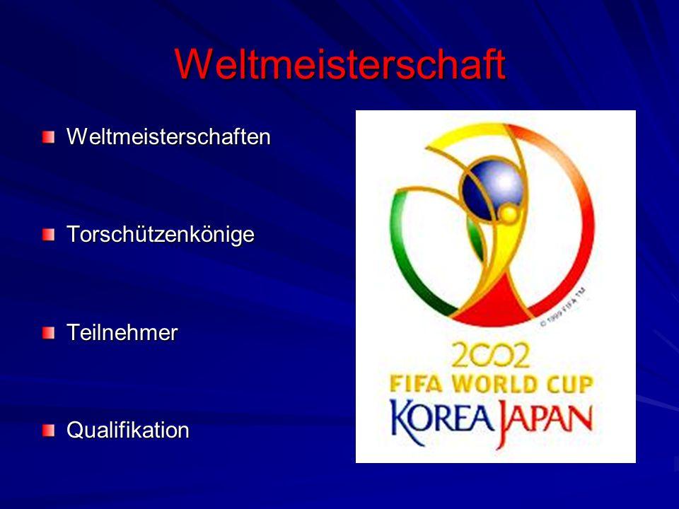Weltmeisterschaft WeltmeisterschaftenTorschützenkönigeTeilnehmerQualifikation