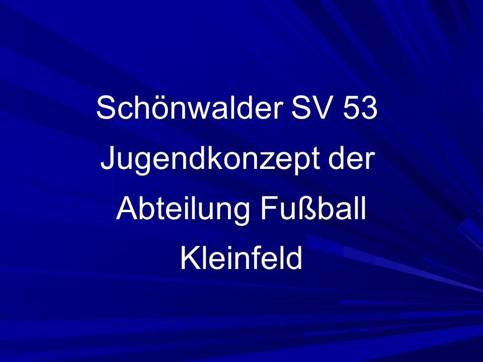 Schönwalder SV 53 Jugendkonzept der Abteilung Fußball Kleinfeld