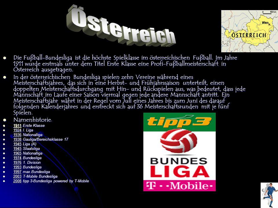 Die Fußball-Bundesliga ist die höchste Spielklasse im österreichischen Fußball. Im Jahre 1911 wurde erstmals unter dem Titel Erste Klasse eine Profi-F