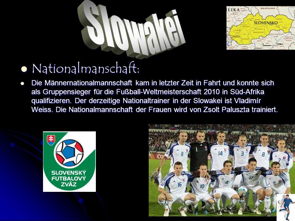 Nationalmanschaft: Nationalmanschaft: Die Männernationalmannschaft kam in letzter Zeit in Fahrt und konnte sich als Gruppensieger für die Fußball-Welt
