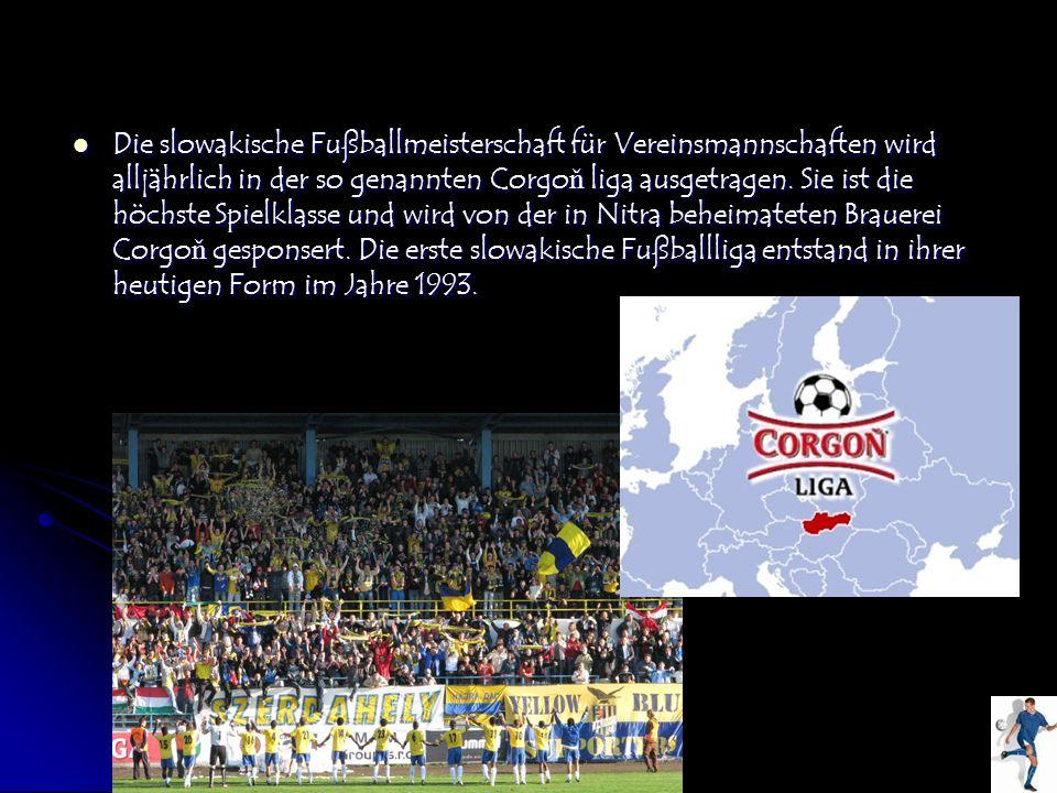 Die slowakische Fußballmeisterschaft für Vereinsmannschaften wird alljährlich in der so genannten Corgo ň liga ausgetragen. Sie ist die höchste Spielk