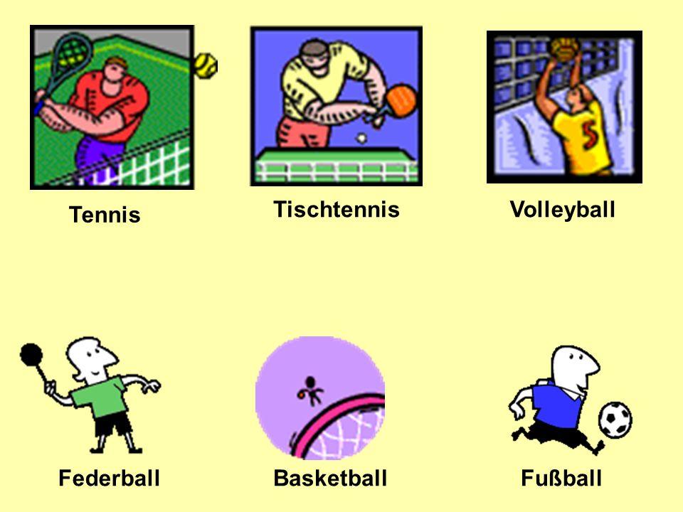 Tischtennis Volleyball Federball FußballBasketball