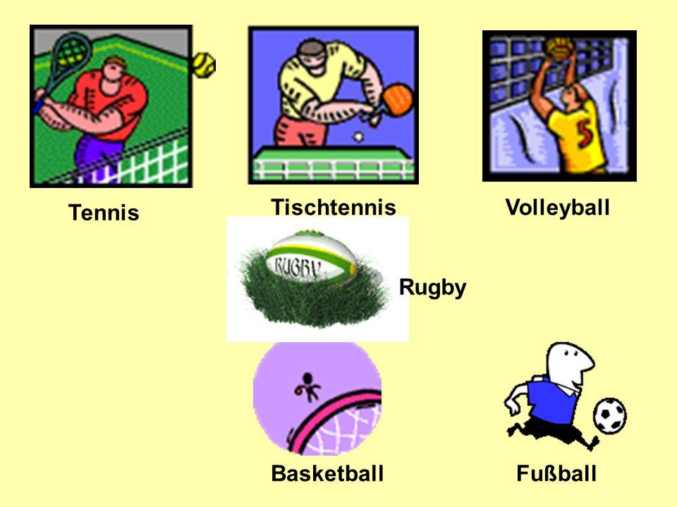 Tennis Tischtennis Volleyball FußballBasketball Rugby