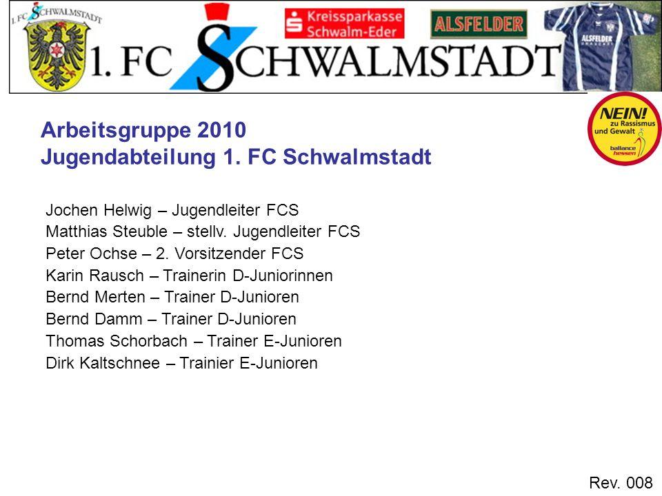 Rev. 008 Jochen Helwig – Jugendleiter FCS Matthias Steuble – stellv. Jugendleiter FCS Peter Ochse – 2. Vorsitzender FCS Karin Rausch – Trainerin D-Jun