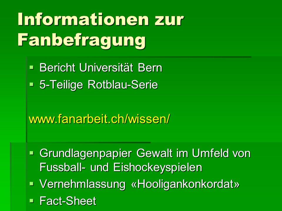 Informationen zur Fanbefragung Bericht Universität Bern Bericht Universität Bern 5-Teilige Rotblau-Serie 5-Teilige Rotblau-Seriewww.fanarbeit.ch/wisse