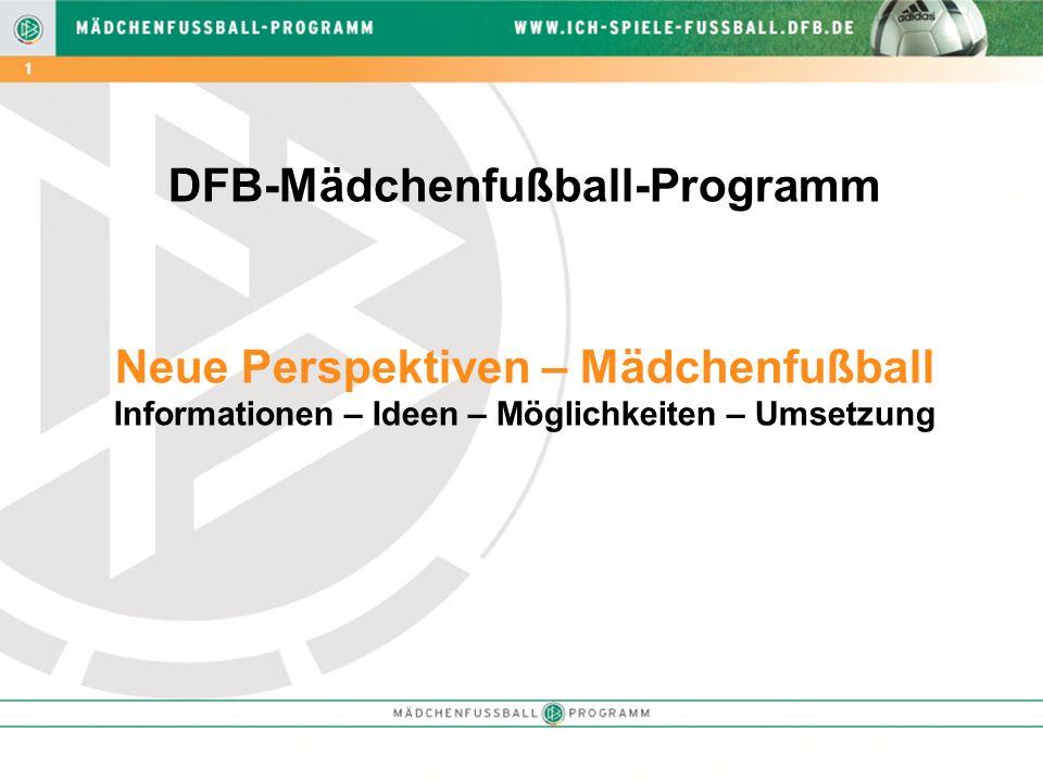 DFB-Mädchenfußball-Programm Neue Perspektiven – Mädchenfußball Informationen – Ideen – Möglichkeiten – Umsetzung