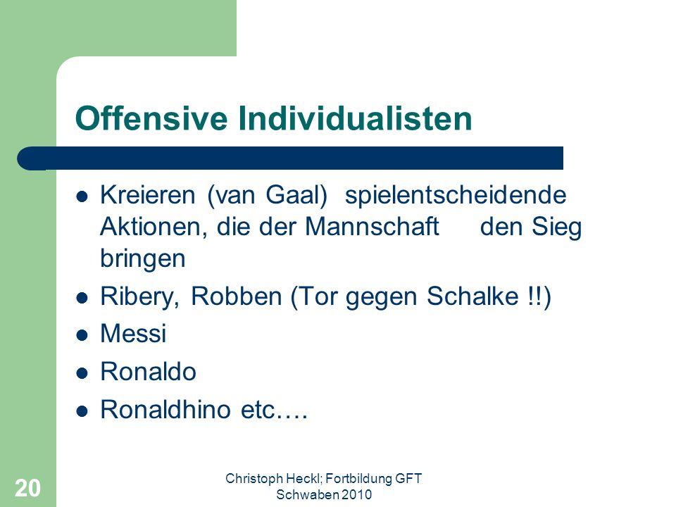 Christoph Heckl; Fortbildung GFT Schwaben 2010 19 WM 2006 – perfektionierte Abwehrreihen Der spätere Weltmeister Italien verriegelt das Tor – 2 Gegent