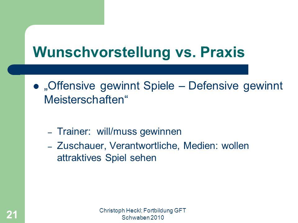 Christoph Heckl; Fortbildung GFT Schwaben 2010 20 Offensive Individualisten Kreieren (van Gaal)spielentscheidende Aktionen, die der Mannschaftden Sieg