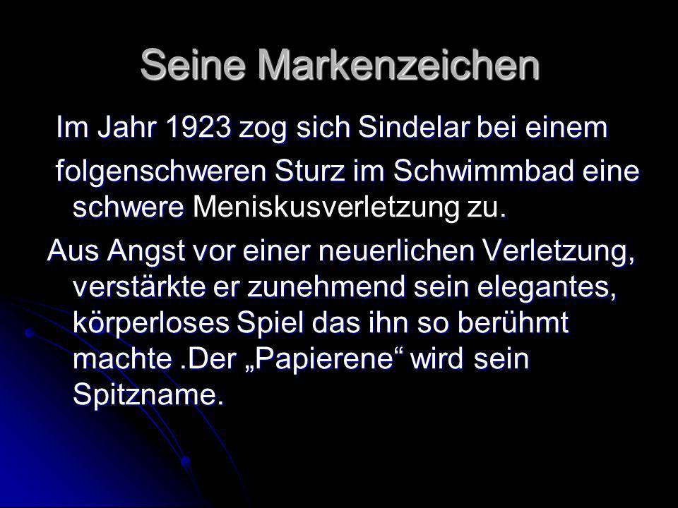 Seine Erfolge Er wurde mit Austria Cup-Sieger(1927).