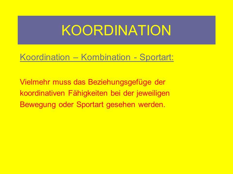 KOORDINATION Kernbotschaften: Ab dem 12-14 Lebensjahr: Sportpsychologe Koordinationstraining Physiologe Orthopäde/Physiotherapeut
