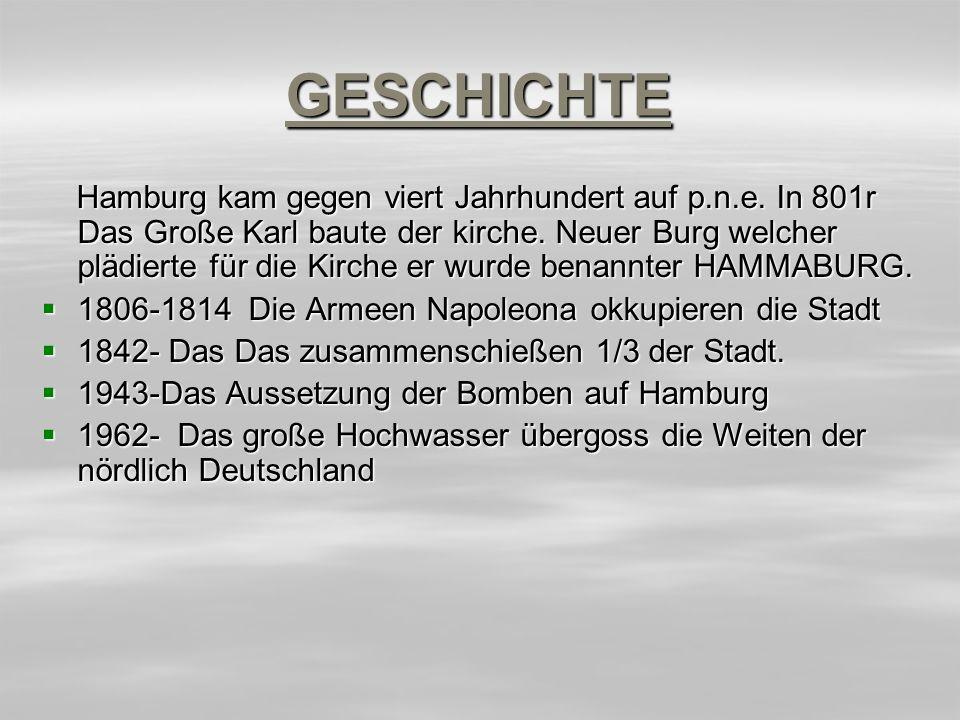 GESCHICHTE Hamburg kam gegen viert Jahrhundert auf p.n.e.