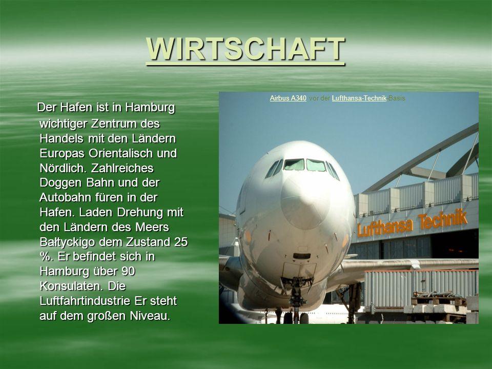WIRTSCHAFT Der Hafen ist in Hamburg wichtiger Zentrum des Handels mit den Ländern Europas Orientalisch und Nördlich.