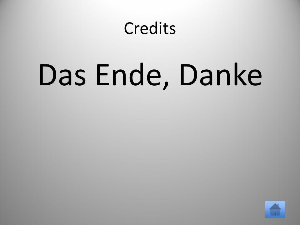 Credits Das Ende, Danke