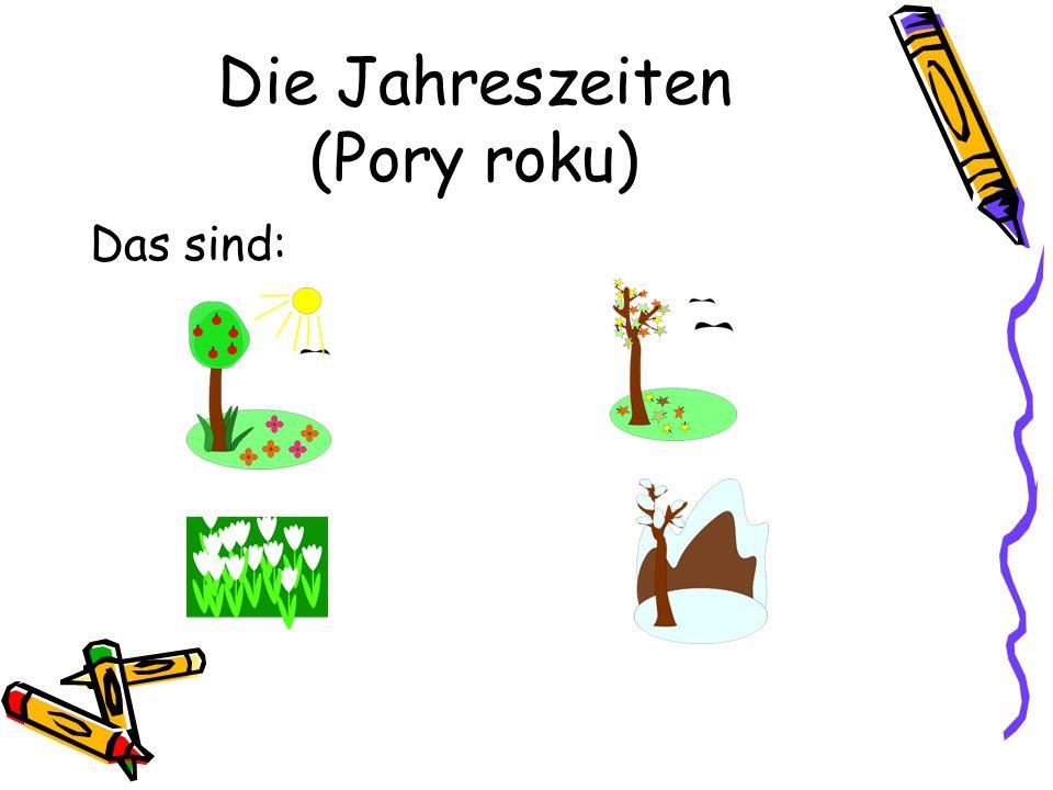 Der Frühling (Wiosna) im Garten spielen (bawić się w ogrodzie) Blumen pflücken (zbierać kwiaty) Fußball spielen (grać w piłkę) laufen (biegać)