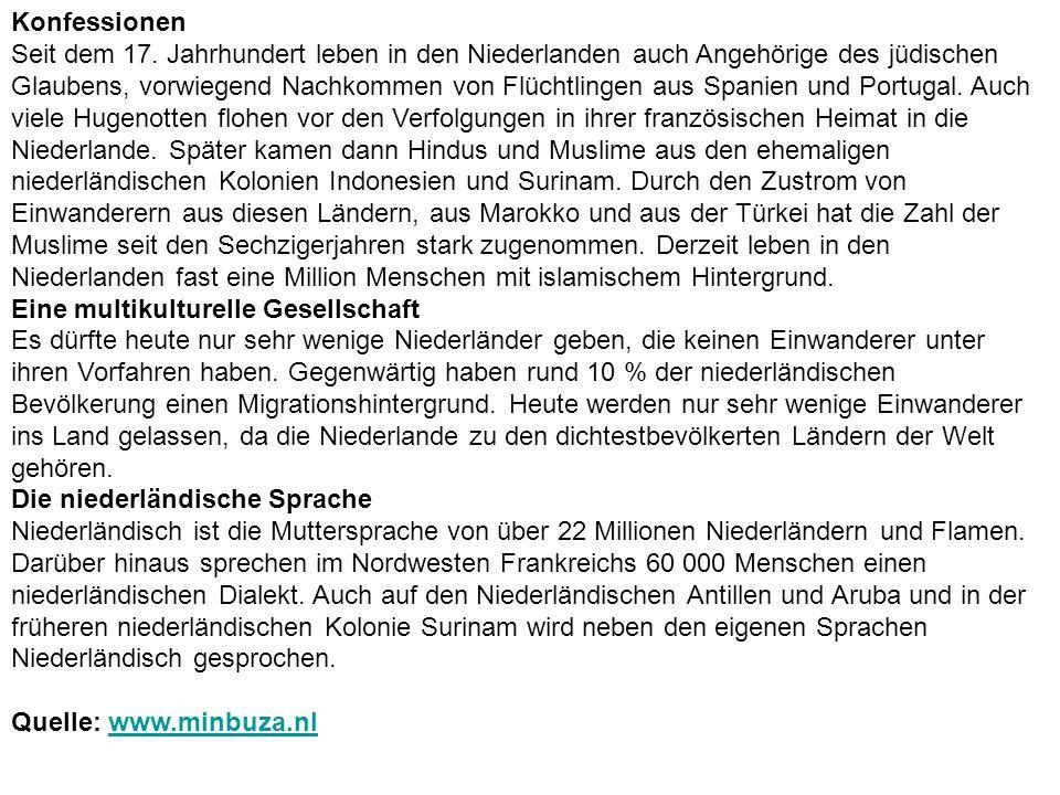 Konfessionen Seit dem 17.