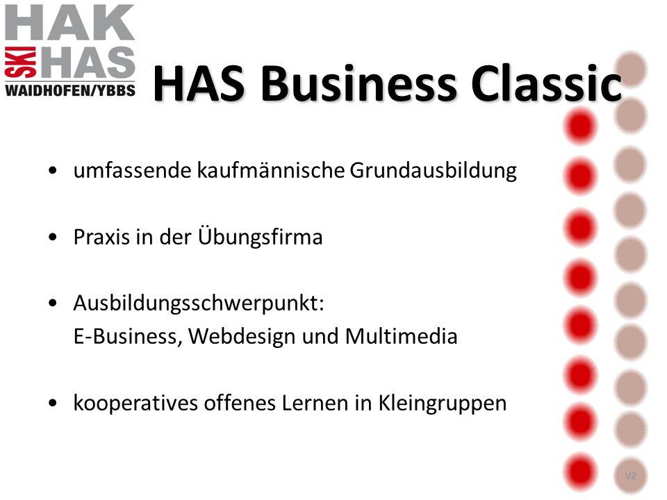 Business Classic Ausbildung + Schwerpunkt Fußball : Kooperation mit AFW Schwerpunkt Schi : Ausbildung im TZW HAS Business & Sports