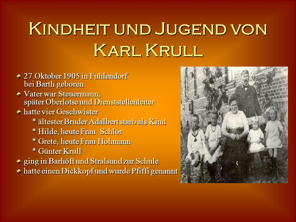 Karl Krull Wir sind die Reporter der 4.Klassen der Karl-Krull-Schule. Wer war Karl Krull? Wir hatten es uns zur Aufgabe gemacht, alles über ihn heraus