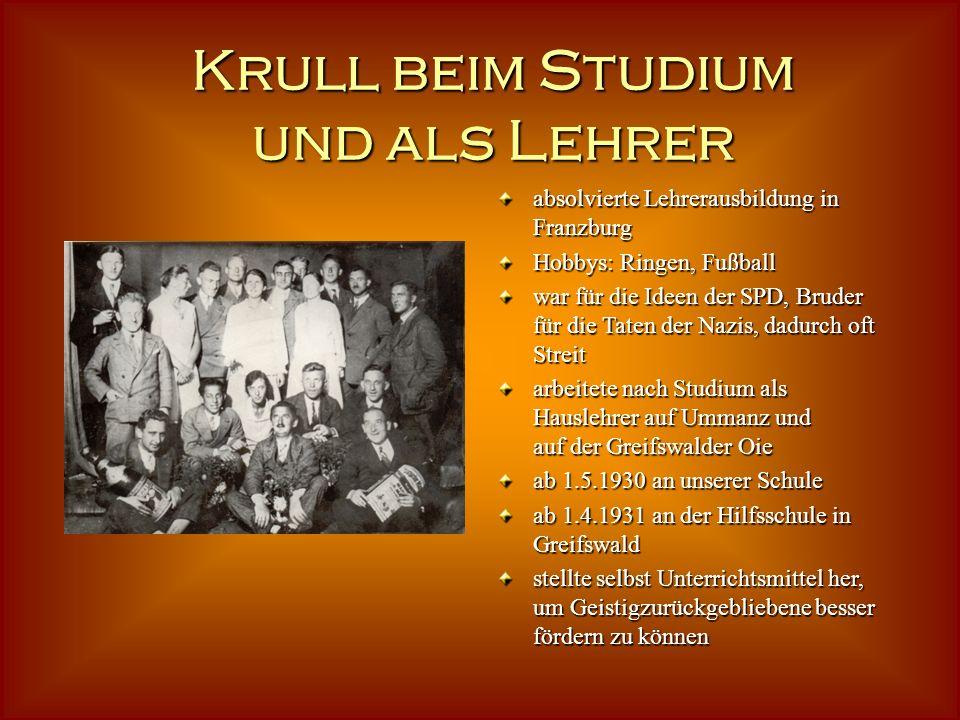 27.Oktober 1905 in Fuhlendorf bei Barth geboren 27.Oktober 1905 in Fuhlendorf bei Barth geboren Vater war Steuermann, später Oberlotse und Dienststell