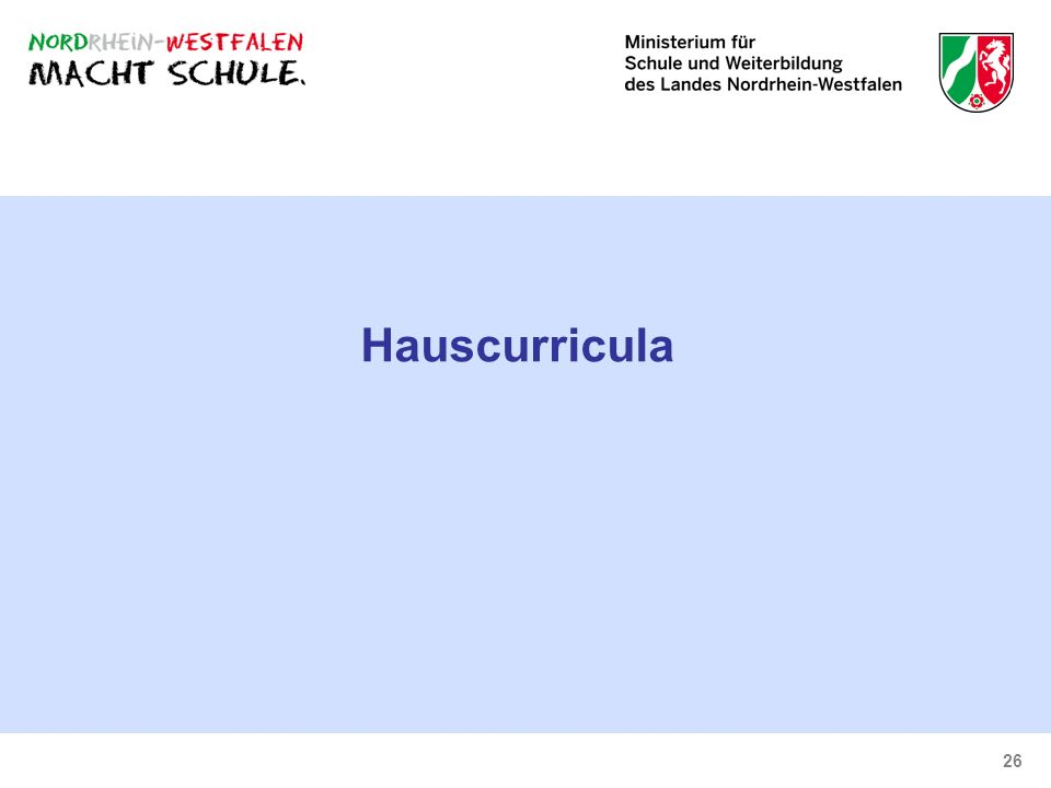 26 Hauscurricula