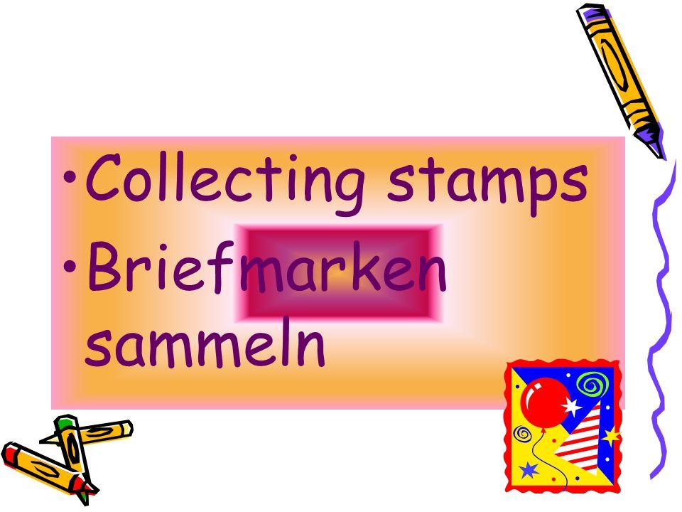 Collecting stamps Briefmarken sammeln