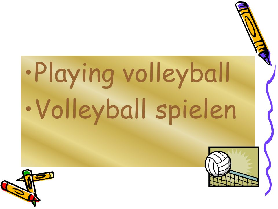 Playing volleyball Volleyball spielen