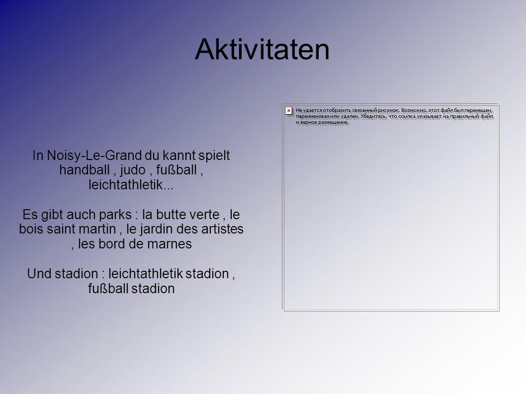 Aktivitaten In Noisy-Le-Grand du kannt spielt handball, judo, fußball, leichtathletik...
