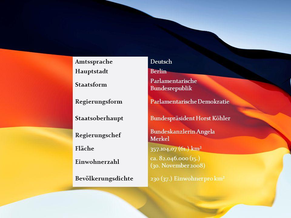 Sprache und Dialekte Die in Deutschland gebräuchlichste Sprache ist Deutsch.