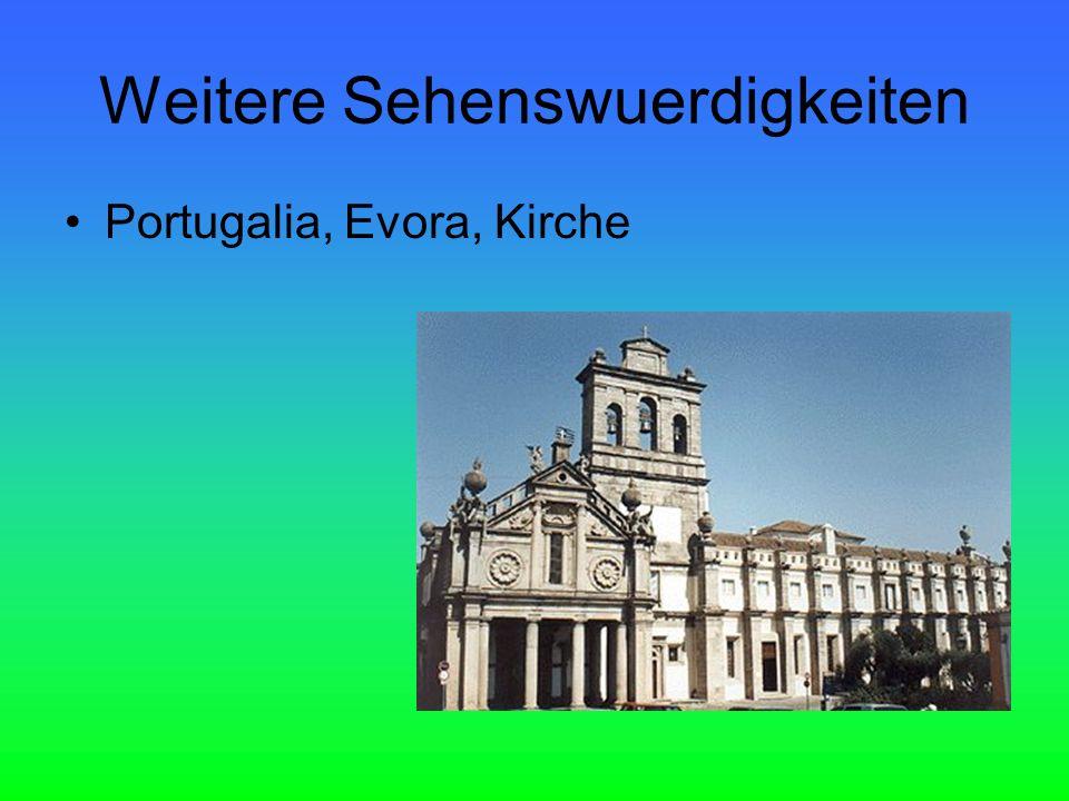 Weitere Sehenswuerdigkeiten Portugalia, Evora, Kirche