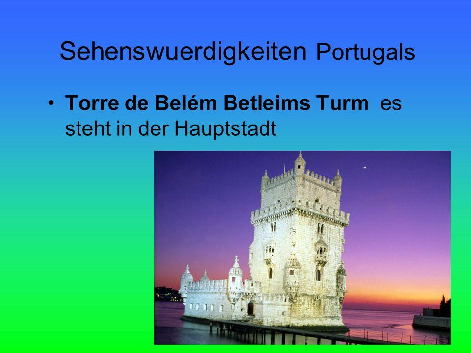 Torre de Belém Betleims Turm es steht in der Hauptstadt Sehenswuerdigkeiten Portugals
