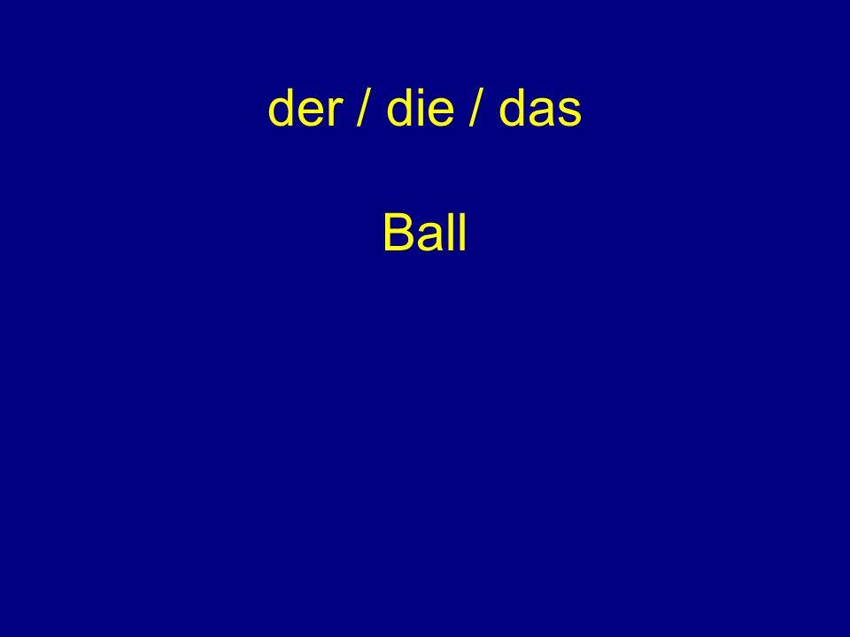 der / die / das Ball