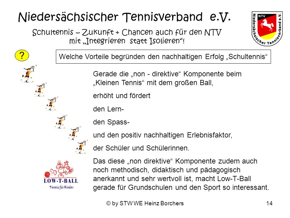 © by STW WE Heinz Borchers14 Niedersächsischer Tennisverband e.V.