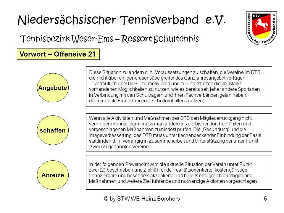 © by STW WE Heinz Borchers6 Für Tennis ist man nie zu jung und nie zu alt….