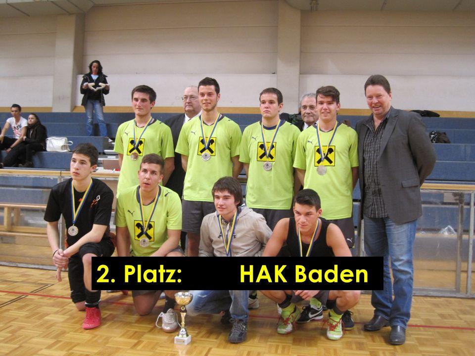 2. Platz:HAK Baden