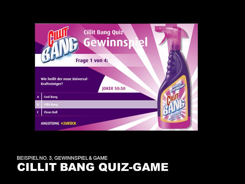 BEISPIEL NO. 3, GEWINNSPIEL & GAME CILLIT BANG QUIZ-GAME