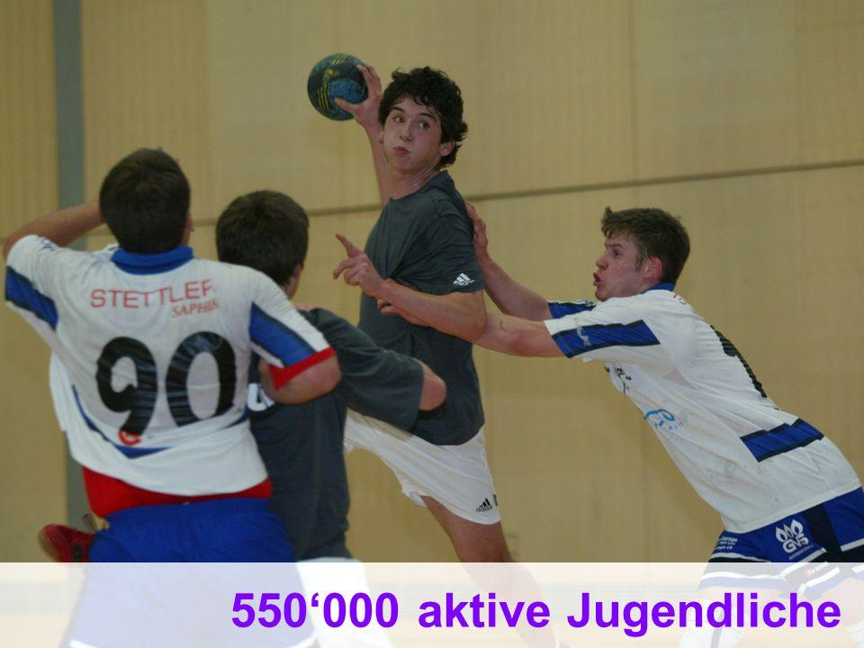 16 Bundesamt für Sport BASPO Jugend+Sport 550000 aktive Jugendliche