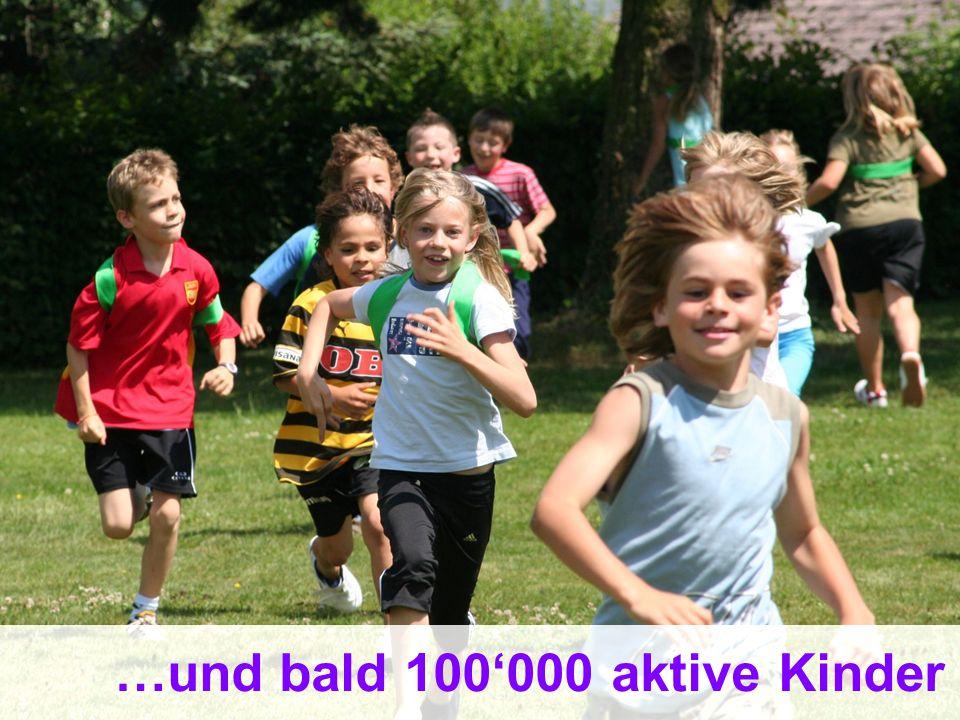 17 Bundesamt für Sport BASPO Jugend+Sport …und bald 100000 aktive Kinder