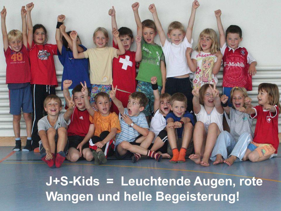 27 Bundesamt für Sport BASPO Jugend+Sport J+S-Kids = Leuchtende Augen, rote Wangen und helle Begeisterung!