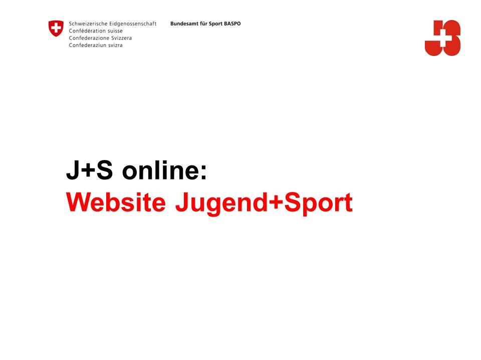J+S online: Website Jugend+Sport